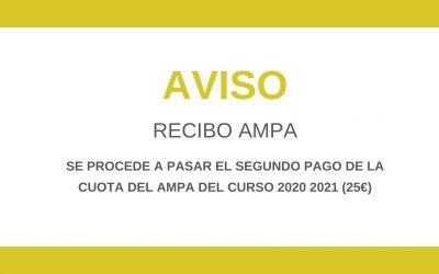 RECIBO AMPA SEGUNDA CUOTA